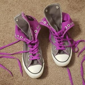 Converse Purple Sneakers...8